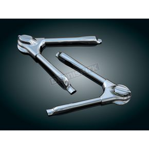 Kuryakyn Chrome Swingarm Covers w/LED'S - 7814