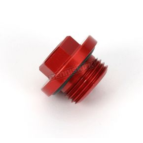 Works Connection Aluminum Red Anodized Oil Filler Plug - 24-190