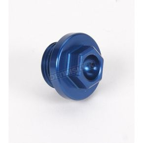 Works Connection Aluminum Blue Anodized Oil Filler Plug - 24-191