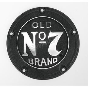 Jack Daniels Black Powder-Coated Old No. 7 Brand 5-Hole Derby Cover - JDA02P01DC