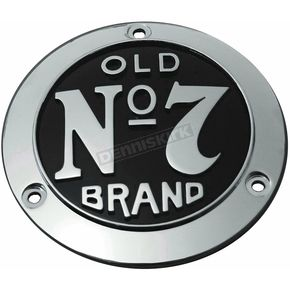 Jack Daniels Polished Chrome Old No. 7 Brand 3-Hole Derby Cover - JDA02B02DC