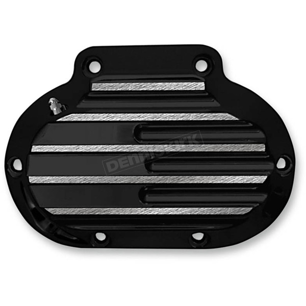 Covingtons Customs Black Finned Hydraulic Transmission Side Cover - C1362-B