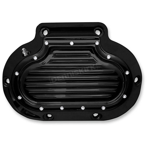 Covingtons Customs Black Dimpled Hydraulic Transmission Side Cover - C1363-B