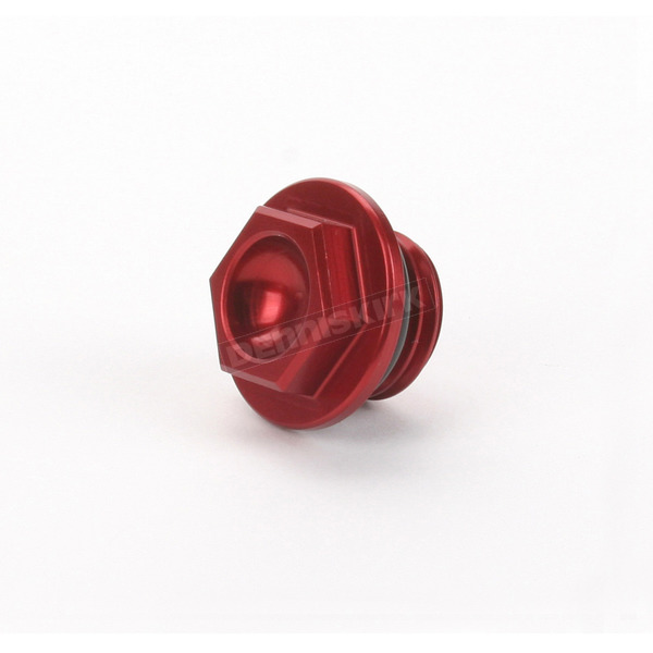 Works Connection Aluminum Red Anodized Oil Filler Plug - 24-070