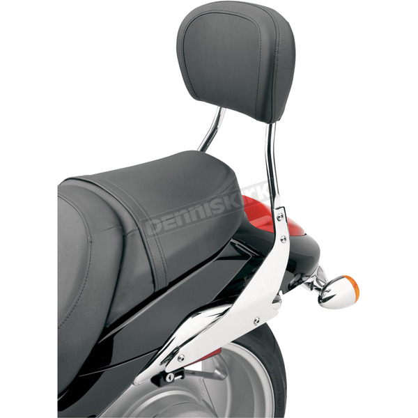 Cobra Short Round Sissy Bar w/Pad - 14 in. - 02-8614
