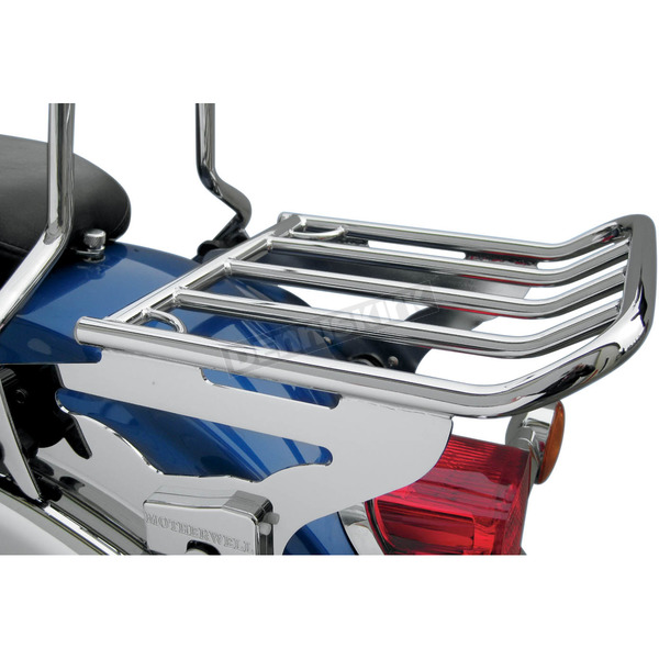 Motherwell Products Chrome Non-Locking 2-Up Detachable Luggage Rack - MWL-425