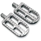 Clear Anodized Long Adjustable Serrated Billet Footpegs - 08-56-2