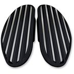 Gloss Black Finned Passenger Floorboards - C1336-B