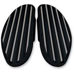 Black Diamond Edge Finned Passenger Floorboards - C1336-D