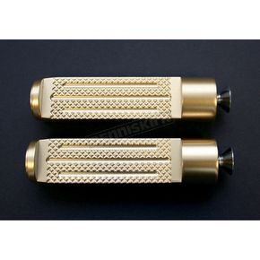 Accutronix 4 in. Brass Knurled Milled Shifter/Brake Pegs - PT120-KM5