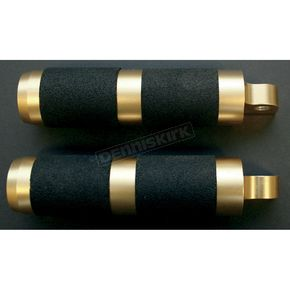 Accutronix Brass Rubber Inlay Footpegs - RP111-R5