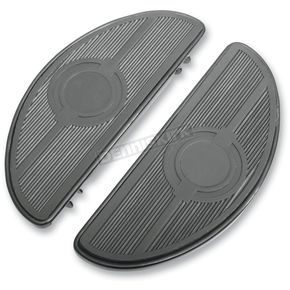 Drag Specialties Black Half-Moon Floorboards w/o Vibration Inserts - 1621-0165
