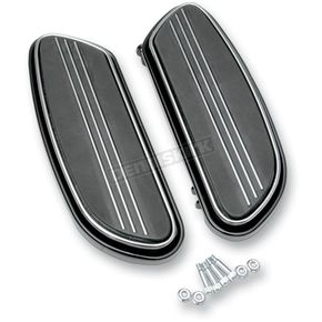 Black Streamline Driver Floorboards - 1621-0348