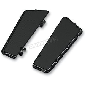 Black Beveled Fusion Series Adjustable Driver Floorboards - 15-410