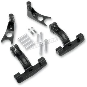 Drag Specialties Black Passenger Floorboard Mount Kit - 1621-0513
