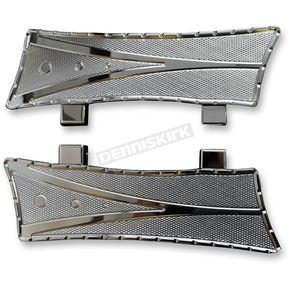 Trask Chrome V-Line Driver Floorboards for Indian - TM-6010CH