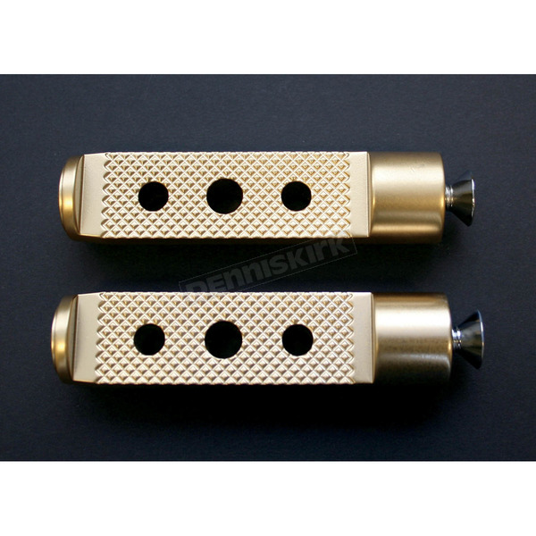 Accutronix 4 in. Brass Knurled Drilled Shifter/Brake Pegs - PT120-KD5