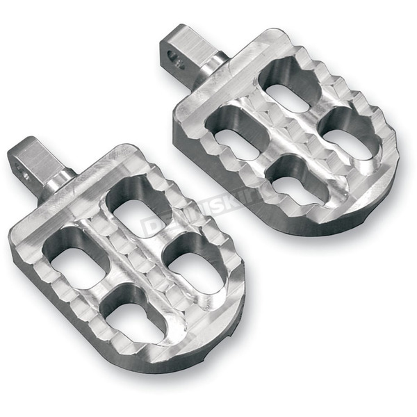 Clear Anodized Short Adjustable Serrated Billet Footpegs - 08-57-2