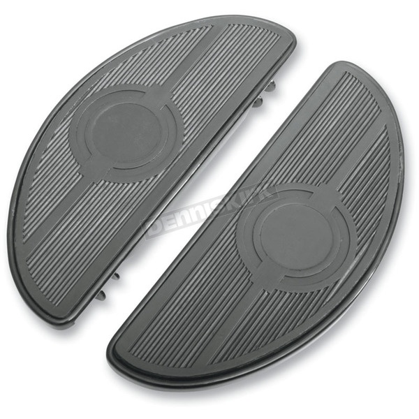 Black Half-Moon Floorboards w/o Vibration Inserts - 1621-0165