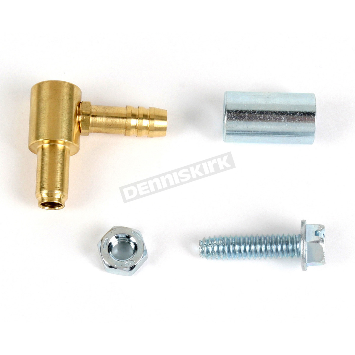 Single Outlet Brass Hi-Flow Fuel Nipple for 76-06 Butterfly and CV Keihin  Carburetors - CVN1