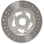 Chrome 11.5 in. Savage Rear Floating Two-Piece Brake Rotor - ZSSFL11785CLR2K