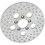Front 10 in. Stainless Steel Drilled Brake Rotor - 1710-1910