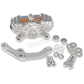 Performance Machine Chrome Vintage Style Front Caliper with Brackets - 0052-4005-CH