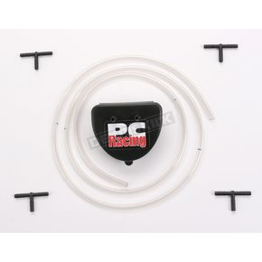 PC Racing Single Carb 2 Stroke Vent System-Black - PC23