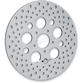 Drag Specialties Front 11.8in. Stainless Steel Drilled Brake Rotor - 1710-1061