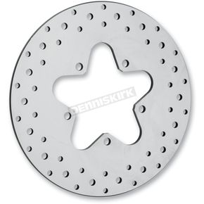 Drag Specialties Rear 11.5 in. Stainless Steel Drilled Brake Rotor  - 1710-1063