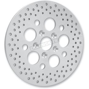 Drag Specialties Rear 11.875 in. Stainless Steel Drilled Brake Rotor  - 1710-1064