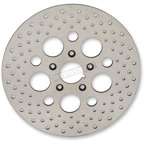 Drag Specialties Front 11.5 in. Stainless Steel Drilled Brake Rotor - 1710-1903