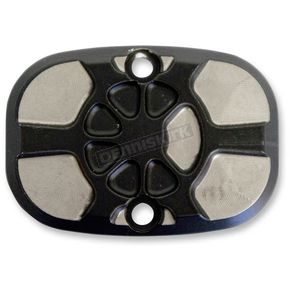 LA Choppers Laser Fusion Satin Black  Fusion Rear Brake Master Cylinder Cover - LA-F551-00M