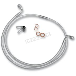 Magnum Custom Sterling Chromite II Designer Series 90 Degree Top Angle Custom Single-Disc Front Brake Line - 36248SW