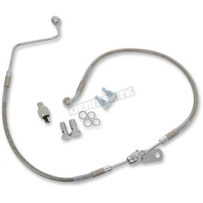 Drag Specialties Rear Standard Length ABS Stainless Steel Brake Line Kit - 1741-3777
