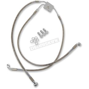 Drag Specialties Front Standard Length ABS Stainless Steel Brake Line Kit - 1741-3821