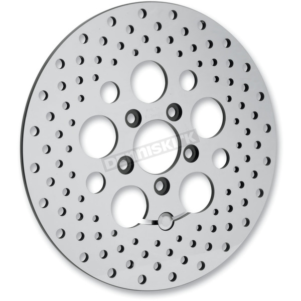 Drag Specialties Rear 11.8 in. Stainless Steel Drilled Brake Rotor  - 1710-1062