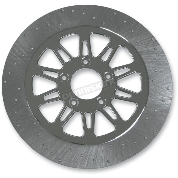 Lyndall Racing Brakes 11.5 in. Front Chrome Omega Lug-Drive Brake Rotor - NVLD-115FC10SC