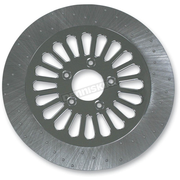 Lyndall Racing Brakes 11.8 in. Front Chrome Millennium 20 Spoke Lug-Drive Brake Rotor - NVLD-118FCM20C