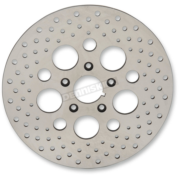 Front 11.5 in. Stainless Steel Drilled Brake Rotor - 1710-1903
