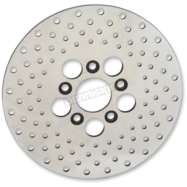 Drag Specialties Front 10 in. Stainless Steel Drilled Brake Rotor - 1710-1909