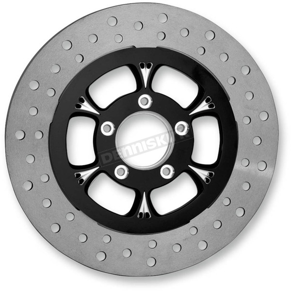 RC Components Black/Chrome 11.8 in. Majestic Eclipse Left Front Floating Two-Piece Brake Rotor - ZSFL117102EFL2K
