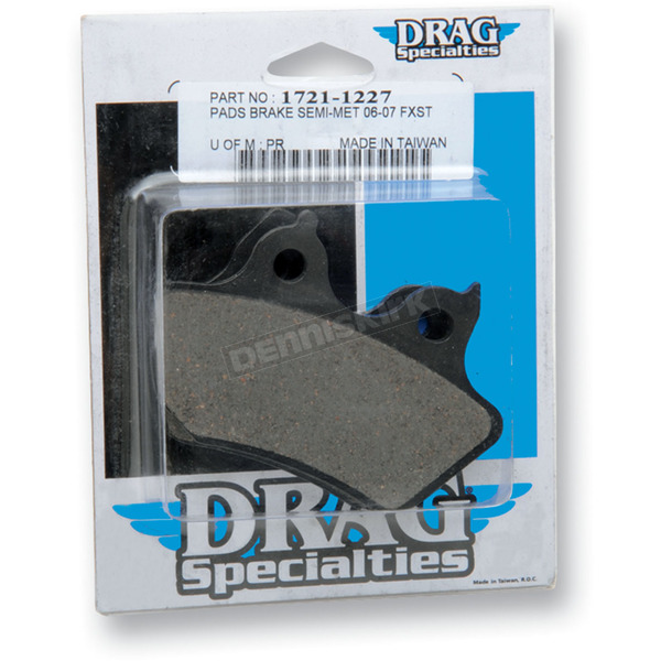 Drag Specialties Semi-Metallic Brake Pads - 1721-1227