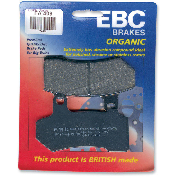 EBC Front or Rear Organic Brake Pads - FA409