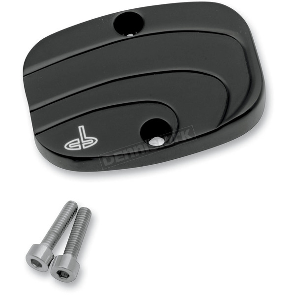 Carl Brouhard Designs Black Waterfall Rear Master Cylinder Cover - WF-0008-B