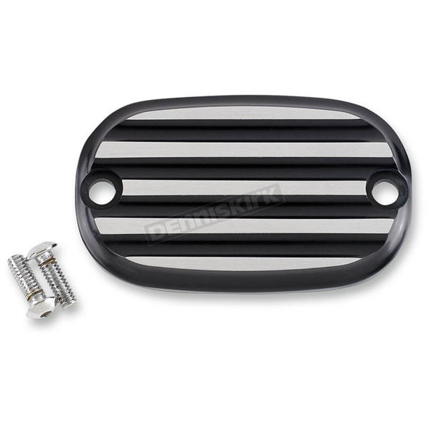 Joker Machine Black Anodized/Silver Finned Rear Brake Master Cylinder Cover - 08-01-2