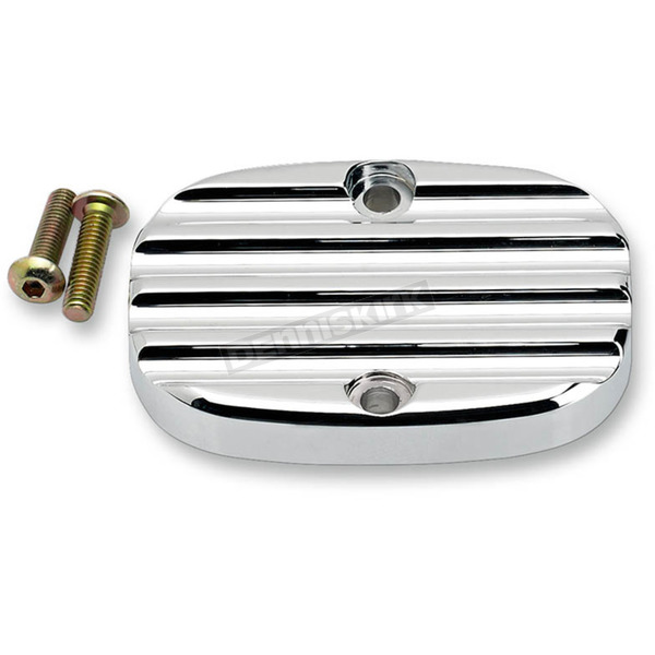 Joker Machine Chrome Finned Rear Brake Master Cylinder Cover - 08-008C
