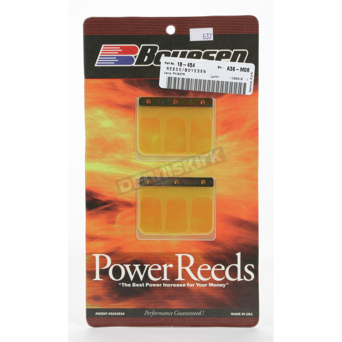 Suzuki Power Reed Kit RM 250 1989-1990 Boyesen Motorcycle 637
