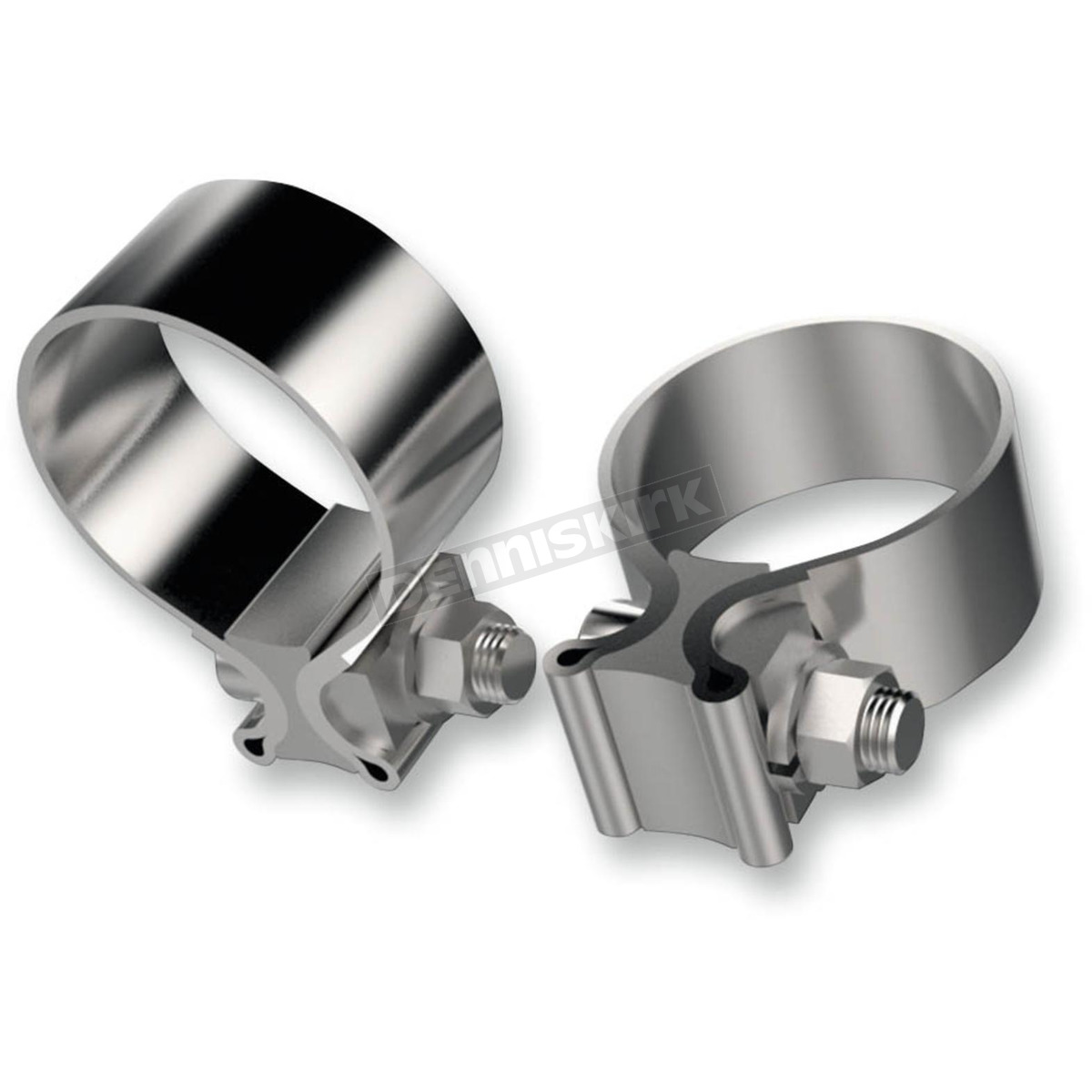 Khrome werks in stainless steel exhaust clamp