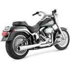 Chrome Pro Pipe 2 into 1 Exhaust System - 17547